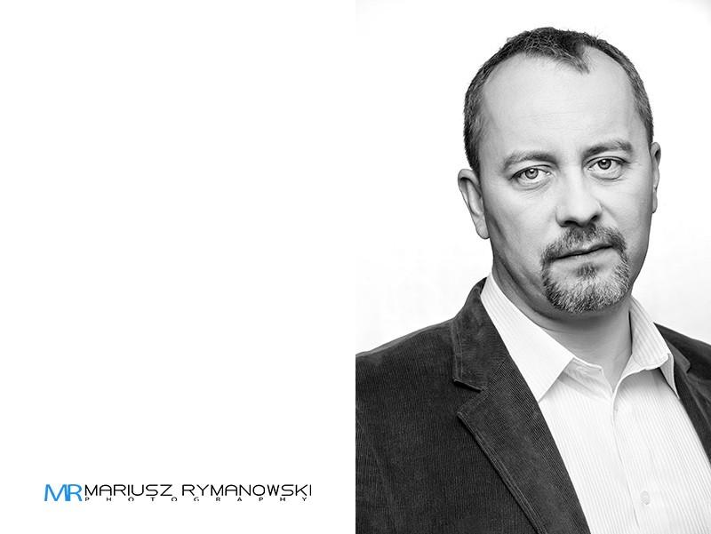 Zdjęcie Portretowe czarno białe biznesowe
