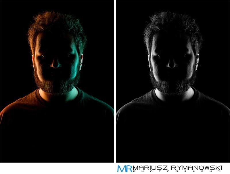 zdjecie frontowe portretowe w 2 wersjach postprodukcji