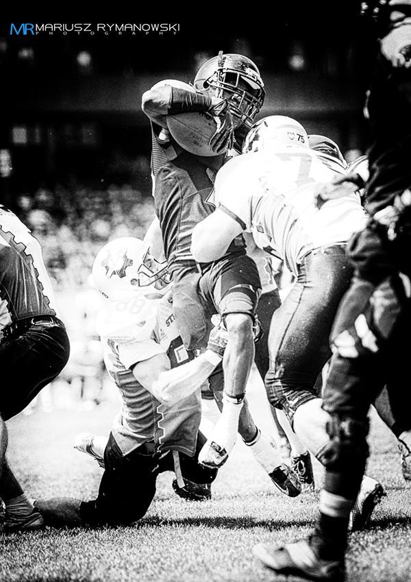 fotografia futbol amerykanski zdjecie z wystawy Deante Battle